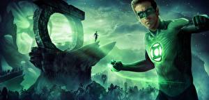 Фотографии Герои комиксов Райан Рейнольдс Green Lantern Фильмы