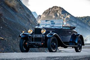 Фотография Ваухал Ретро Синяя Кабриолета 1930 T-Type 20-60 Melton Golfer Coupe машины