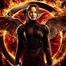 Фотографии Дженнифер Лоуренс The Hunger Games: Mockingjay Кино Девушки Знаменитости