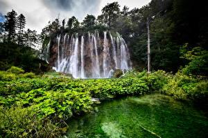 Фотография Хорватия Парки Водопады Озеро Plitvice Lakes National Park Природа