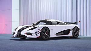 Обои Koenigsegg Тюнинг Белый 2014 Koenigsegg One 1