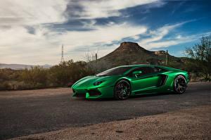 Фотография Lamborghini Зеленый Aventador