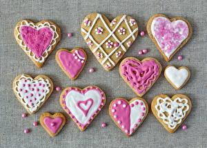 Картинки Печенье Сердечко Продукты питания