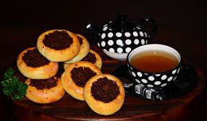 Обои Выпечка Чай Чайник Чашка Еда фото