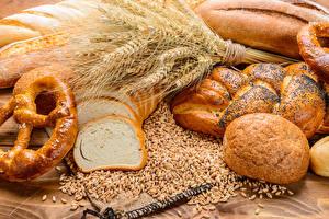 Обои Выпечка Булочки Хлеб Пшеница Колос Зерна Еда фото