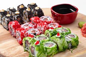 Картинка Морепродукты Суши Соевый соус Продукты питания