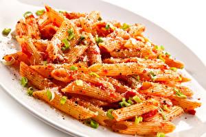 Обои Вторые блюда Макароны Тарелка Еда фото