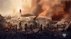 Обои Голодные игры Jennifer Lawrence Лучники Воители Мужчины Mockingjay - Part 2 Кино Знаменитости