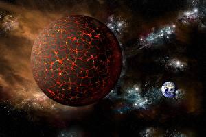 Фотография Планета Космос 3D_Графика