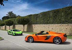 Фото McLaren Оранжевых 2 P1 автомобиль