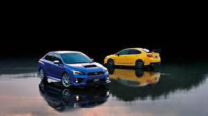 Обои Subaru Двое WRX STI Автомобили