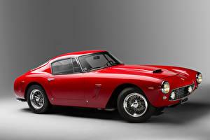 Фото Ferrari Винтаж Тюнинг Pininfarina Красные Металлик 1961-62 250 GT Berlinetta Passo Corto Lusso автомобиль