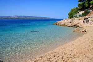 Обои Хорватия Побережье Море Природа фото
