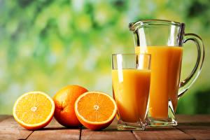 Картинки Напитки Цитрусовые Апельсин Стакан Кувшин Еда