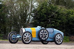 Обои BUGATTI Ретро Голубой 1924-30 Bugatti Type 35 Автомобили фото