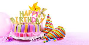 Фото Торты Праздники День рождения Белом фоне