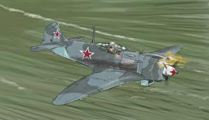 Фото Самолеты Истребители Рисованные La-5FN