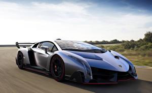Фотографии Lamborghini Движение Veneno машина
