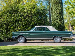Картинка Винтаж Зеленый Сбоку 1965 Mercury Comet Caliente Автомобили