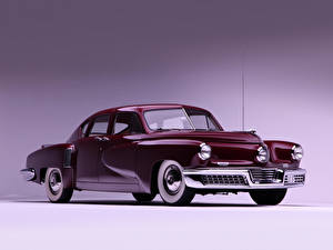 Картинка Ретро Бордовый Металлик Седан 1948 Tucker Sedan Автомобили