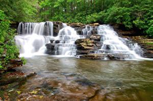 Обои Водопады Реки Природа фото