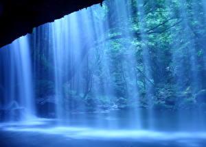 Фотография Водопады Япония Nabegataki-Falls, Kumamoto