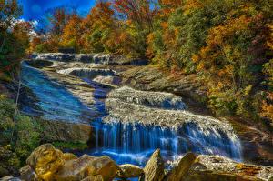 Картинки Водопады Скала
