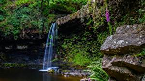 Картинка Водопады Скала