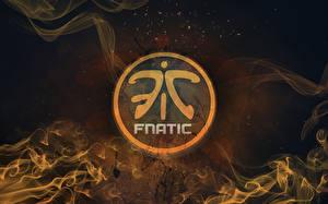 Обои DOTA 2 Логотип эмблема Fnatic Игры фото