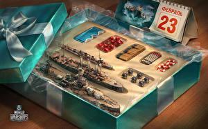Фотография World Of Warship День защитника Отечества Корабли Игрушки Игры Армия