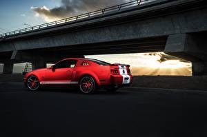 Картинки Ford Красный Сбоку Mustang Shelby GT500 Aristo Автомобили