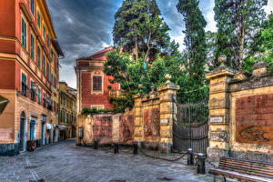 Картинка Италия Дома Улица HDRI Sestri Levante Города