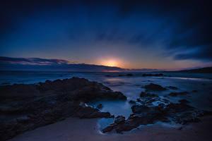 Обои Пейзаж США Рассветы и закаты Побережье Калифорния Crystal Cove Newport Beach Природа фото
