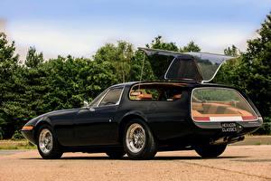 Фотографии Феррари Ретро Черный Металлик Вид 1975 365 GTB 4 Panther Shooting Brake Автомобили
