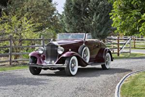 Картинки Винтаж Металлик Кабриолет Родстер 1932 Packard Light Eight Coupe Roadster Машины