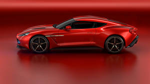 Фотография Астон мартин Красный Сбоку 2016 Vanquish Zagato Concep Автомобили