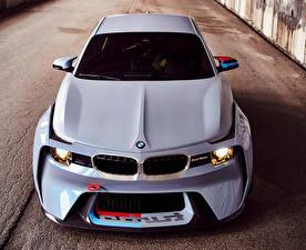 Фотографии BMW Металлик Спереди Белый 2016 2002 Hommage Concept Автомобили
