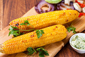Картинки Кукуруза Двое Еда