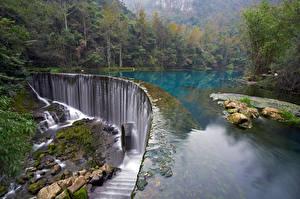 Фотография Хорватия Парки Водопады Озеро Леса Plitvice Lakes National Park