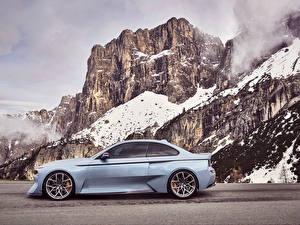 Фотографии BMW Сбоку Утес 2016 BMW 2002 Hommage Concept Автомобили