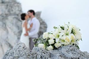 Картинки Букеты Розы Лилии Свадьба