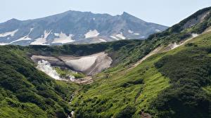 Обои Россия Пейзаж Горы Камчатка Природа