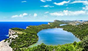Обои Хорватия Пейзаж Озеро Небо Побережье Savar Природа фото