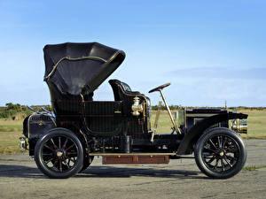 Фотография Ретро Черный Сбоку 1905 Gardner-Serpollet 18 HP Type L Phaeton Steamer by Kellner Автомобили