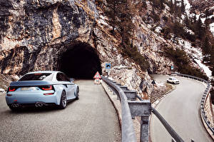 Фото Дороги BMW Скала Пещере Автомобили