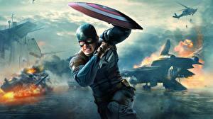 Картинка Капитан Америка герой Мужчины Герои комиксов Первый мститель: Другая война Щит Steve Rogers кино
