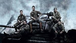 Фотографии Brad Pitt Солдаты Fury Фильмы Знаменитости