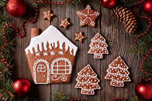 Картинки Рождество Печенье Дома