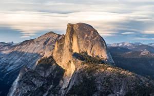 Фотографии Горы США Парк Утес Йосемити Glacier Point Природа