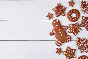 Картинки Печенье Новый год Шаблон поздравительной открытки